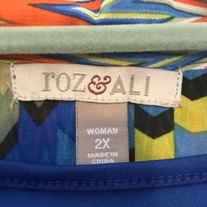 Roz & Ali Tops - Colorful summer top